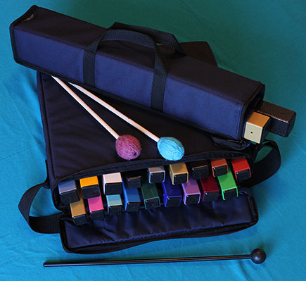Complete Set of Planetary Hand Chimes with 2 Carrying Cases and Mallet Set