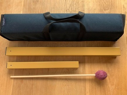 Ohm Middle and Low Hand Chimes with Wine Mallet and Carrying Case